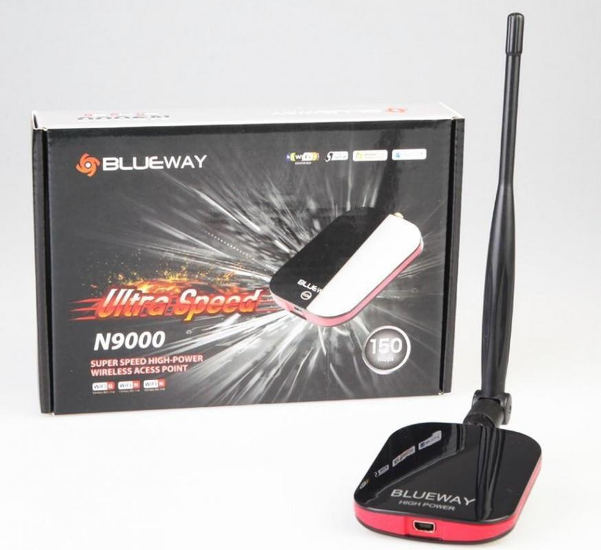 High power 150Mbps Wi-fi Decoder Long Range USB wireless WiFi Adapter with wi fi antenna 5dbi(China)