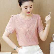 Buy Women Tops Blouses 2018 Summer Chiffon Blouse Short Sleeve Ladies Shirts Plus Size Blouse Womens Clothing Blusa feminina for $10.80 in AliExpress store