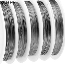 SLHEE 50M fishing Stainless steel wire line 7 strands 13-130LB wire Fishing lines max power 6kg-60kg soft lines Cover Waterproof(China)