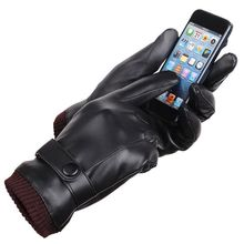 Buy 2017 Autumn Winter Warm Cycling Gloves Men Women Leather Gloves high qualitySports windproof touch screen warm thick glove for $4.07 in AliExpress store