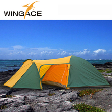 Outdoor camping tent Waterproof windproof 3 4 tourist tent Double layer Beach tents One Bedroom and One Living Room