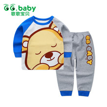 Newborn Baby Boys Clothes Set Suits Baby Girls Clothing Winter Pajamas Set Toddler Long Sleeve Cotton Baby Boy Outfits For Boys(China)