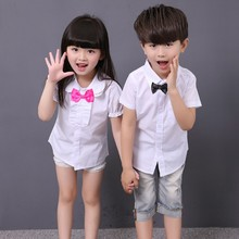 New Boys Dress Shirts Boy Shirt Short Sleeve Boys And Girls Blouses And Shirts  Chemise Garcon  Boys Shirts  6BL106
