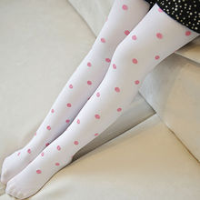 (2pairs/pack) Baby Girls's Stockings Lovely Candy Color Pattern Jacquard Opaque Velvet Ballet Pantyhose for 4-12years(China)