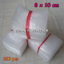 8*10cm 200Pcs Cushioning Bubble Bags Bubble Protective Wrap Bolsa Burbuja Packaging Inflate Foam Packing Verpackungen Schaum(China)