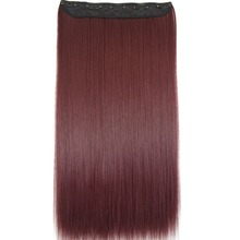 "TOPREETY Heat Resistant B5 Synthetic Hair 24"" 60cm 130g Straight 5 clips on clip in hair Extensions 30 colors available"