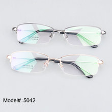 5042  low price fashion memory titanium eyewear with hinge  myopia eyeglasses  RX optical frames
