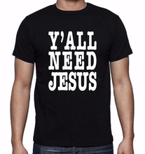 Jesus T Shirts Mens I Like Jesus God Christian T-shirt Cotton Tshirt Homme T Shirt