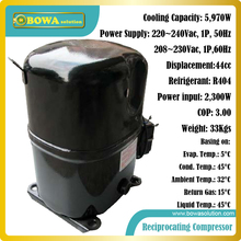 6KW cooling capacity R404 Energy efficient and reliable reciprocating compressors suitable for freezer dryer machines