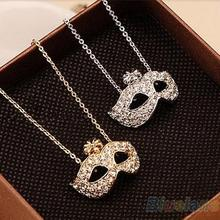 2014 New Fashion Women's Vintage Retro Style Charm Fox Mask Pendant Statement Necklace Novelty Gift 1FN9(China)
