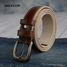 110cm 130cm 150cm Plus Size Long Men's Tactical Military Belt Pin Buckle Woven Canvas Web Duty Belt Strap For Men Man