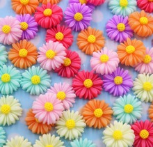 50pcs/lot   flat back resin flowers DIY resin cabochons accessories about13mm