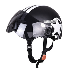 Buy Hot Motor Scooter Motorcycle motocross capacete Open Face Half Matted Black Stars Helmet & Goggles Free for $17.67 in AliExpress store