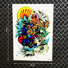 1PC Top Quality Monster Designs Fake Tattoo Body Art Removable Tattoo Stickers GHB-383 Waterproof Marine Tatto Harajuku Japanese