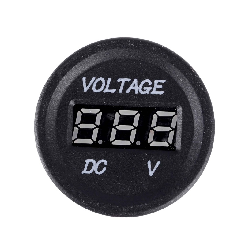 High Quality Professional LED Digital Display 12 V-24 V DC Auto Car Motorcycle Voltmeter Metro Waterproof Voltmeter Socket