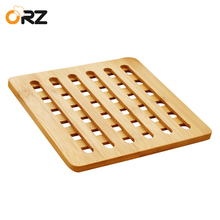 ORZ 3PCS Bamboo Pot Holder Heat Resistant Mat Kitchen Accessories Dinning Table Placemat Round Pan Pad Trivet Mat(China)