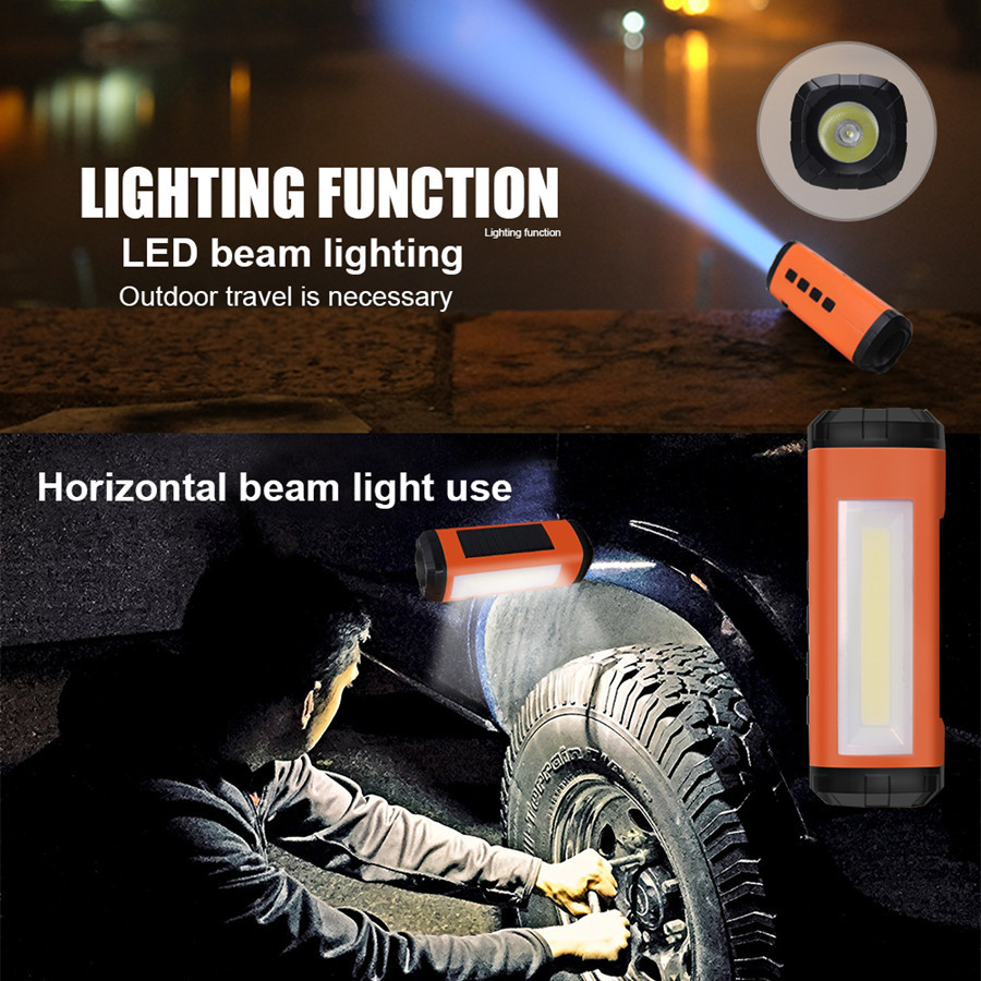 MINI Portable Wireless Bluetooth Speaker LED Flashlight Portable Speaker Player Support FM Radio TF Card Solar Energy Charger