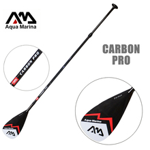 AQUA MARINA carbon fiber pro fiber paddle for SUP stand up paddle surf board adjustable extendable 210cm oar T handle(China)