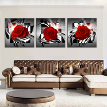 Print poster canvas Wall Art Beautiful roses cuadros Decoration art oil painting Modular pictures on the hall wall(no frame)3pcs