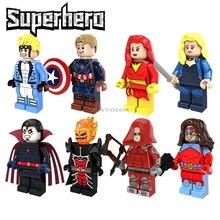 Single Sale Super Hero Legoing Dark Phoenix Cannonball Captain America Queen Atomia Red Arrow Dormammu Star War Building Block