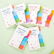 Ayron 1 PCS Cute Rainbow Colored Sticky Notes N Times Sticker Memo Pad Note Bookmark Marker Home Office School