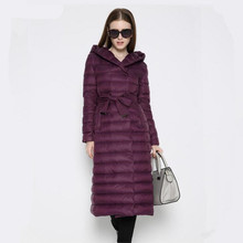 Fashion 2017 New Design Winter Ladies Duck Down Jackets Women Polka Parkas High Collar Long Winter Warm Casual Coat  Down-jacket