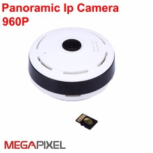 Fisheye Panoramic cctv video surveillance security ip camera 1.3mp 360 Degree View wireless Easy installation
