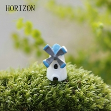 5pcs/Set Mini Windmill Style Home Garden Decorative Miniature Accessories Durable Natural Resin Doll Toy  Hot Sale