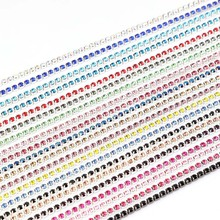 2MM 10Yrads/lot dense Crystal rhinestone chain Sew on Cup chain for clothing ornament accessories