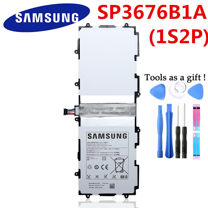 OEM  3.7V Battery SP3676b1A 1s2p 7000mAh for Samsung Galaxy Tab 10.1 GT P7500 AS