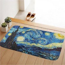 Doormat Low Profile Door Mat Door Indoor/Bedroom/Front Door/Bathroom/Kichten Mats,Anti-slip Lock water,enviromentStarry Night
