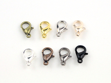12*6mm 150pcs/lot  8 Colors Plated Fashion Jewelry Findings,Alloy Lobster Clasp Hooks for Necklace&Bracelet Chain DIY