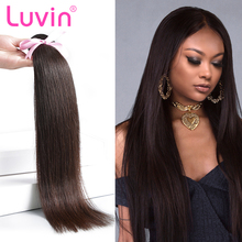 Luvin Brazilian Hair Weave Bundles Straight 100% Human Hair 30 Inch Bundles Natural Color Remy Hair Weft Hair Extension(China)