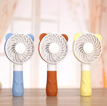 Cute Small Bear Handhold Fan USB Rechargeable Fan 2 Gear Wind outdoor Portable Cooling Fan