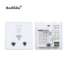 kebidu 150 Mbps Wireless AP Router Indoor Wall Embedded WiFi Router repeater 3G 5V 2A USB Charger socket panel with Switch WPS(China)