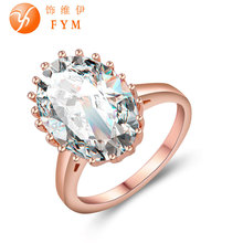FYM Brands New Fashion Jewelry For Women Luxury Gold Ring Hot Luxury AAA Cubic Zirconia Stone Wedding Ring Rose Gold Ring