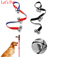 Let's Pet pet dog Nylon Adjustable Dog Housetraining Doorbell Train Dogs Potty Training Extra Loud Bells Guide Rope