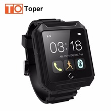 2017 Uwatch Uterra Bluetooth Smart Watch IP68 Waterproof Pedometer Sports Wristwatch TF Card for Smartphone android mobile watch