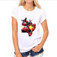 Speed to sell through Ebay ms blasting comic deadpool printing round collar T-shirt  one