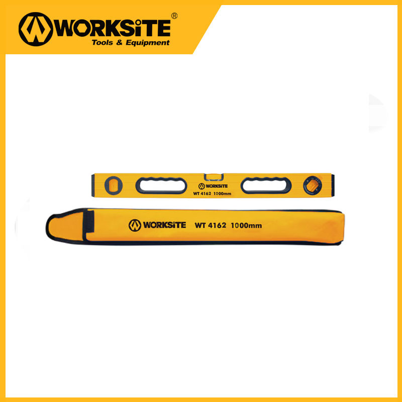 Worksitetools WT4162 Aluminium 1000mm Construction Level Horizontal Blast Leveling Instrument Shockproof Construction Tools<br>