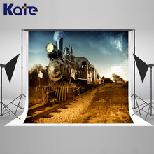 KATE Photography Background Newborn Photo Background Vintage Wedding Backdrop Locomotive Baby Backdrop Photography for Studio