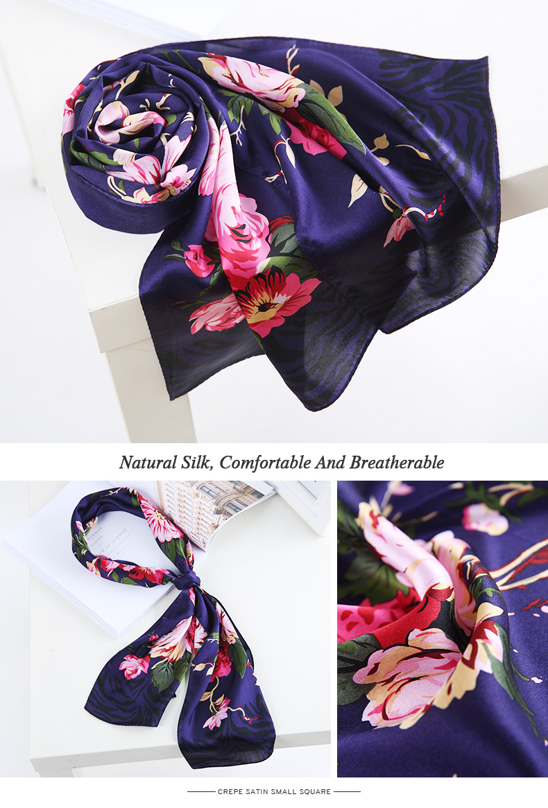Casual Floral Silk Scarf | Lightweight Scarves