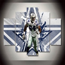 No Frames 5 Panels Abstract Sports Canvas Painting Football Star Demarcus Poster Wall Pictures For Living Room Home Decoration