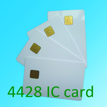 10pcs white PVC card with SLE4428 chip contact smart card hotel key card ISO7816 protocol free shipping