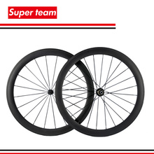 1 pair New 700c Tubular Carbon Wheels 50mm Matte Road Wheelset with Black spokes Black Hub(China)