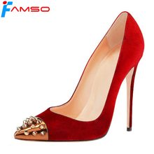 FAMSO Size34-43 2017 New Women pumps Black red Wedding Shoes Gold glitter High Heels prom Pumps Shoes Designer Platforms Pumps(China)
