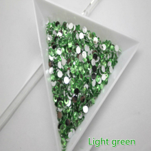 1000pcs SS12 3mm Nail studs High quality Resin flat 3D nail polish Mobile beauty DIY decorative materials Light green N20(China)