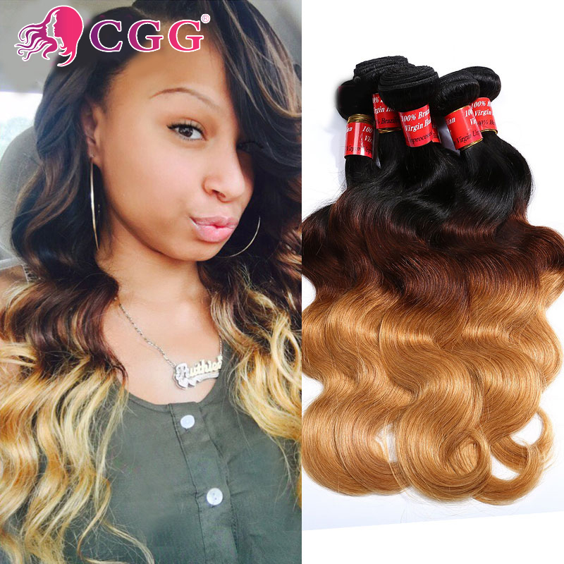 Unprocessed Peruvian Hair Body Wave Ombre Peruvian Hair 4 Bundles Peruvian Body Wave T1B 4 27 Blonde Peruvian Hair Weave Bundles<br><br>Aliexpress