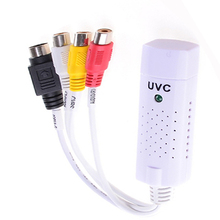 Portable UVC usb 2.0 Video & Audio Capture Card Adapter USB TV UVC Capture card vhs to dvd converter Support WIndow 7/8 XP(China)