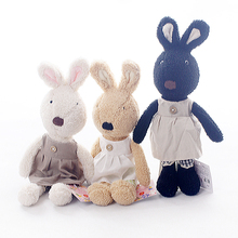 le sucre 45cm Kawaii rabbit Stuffed dolls kids plush toys high-quality,clothes can be take off